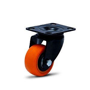 Rodízio Giratório de PVC - Black Series - Modelo de Placa