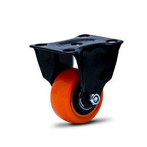 Rodízio de PVC Fixo - Black Series - Modelo de Placa