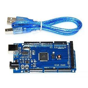 Placa Mega 2560 R3 Compatível Arduino c/ Cabo USB