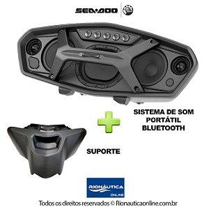 Sistema de Som Bluetooth Jet Ski Spark com Suporte Incluso - Sea Doo 295100867 295100913