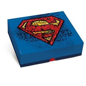 Caixa Retangular Tampa/Fundo New Superman P 17X13,5X4,5Cm Cromus