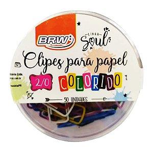 Clipes 2/0 Colorido 50 Unidades Brw