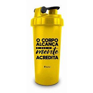 Coqueteleira 600Ml - O Corpo Alcanca - Brasfoot