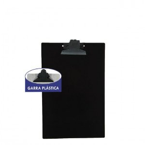 Prancheta Plastica 1/2 Oficio C/ Pegador Plastico Carbrink