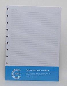 Refil Grande Pautado 50 folhas 90g Caderno Inteligente