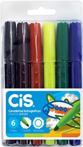 Lápis Hidrocor Jumbo 6 Cores Cis