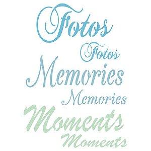 Stencil Momentos 210X150mm 1291 Acrilex