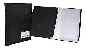 Pasta Catalogo 245X335mm 10 Envelopes 0,06 Preta Com Visor ACP