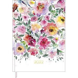 Agenda Costurada Feminine M4 Floral Sortida 2022 Tilibra