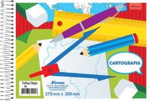 Caderno Cartografia Espiral 48F 8917 Capa Sortida Foroni