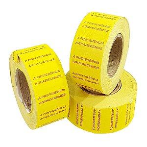 Etiqueta MX5500 Amarela Agradecemos a Preferencia