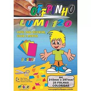 Papel Criativo Offpinho Lumi A4 120g 25F Off Paper