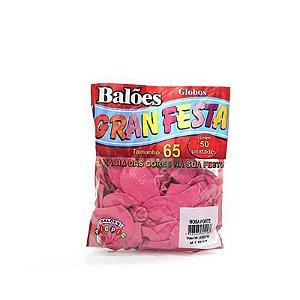 Balão Liso 6.5 Rosa Forte C/50 Gran Festa