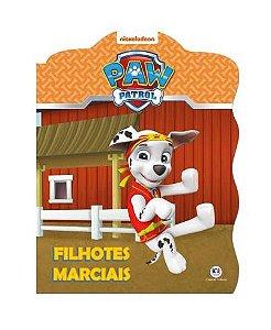 Livro Recortado com Glitter Patrulha Canina - Filhotes Marciais - Ciranda Cultural