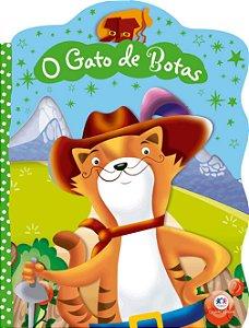 Livro Recortado com Glitter O Gato de Botas Ciranda Cultural