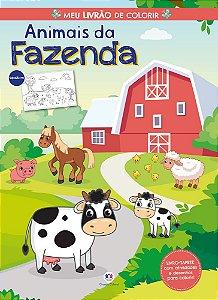 Livro Animais da fazenda - Meu Livrao de Colorir - Ciranda Cultural