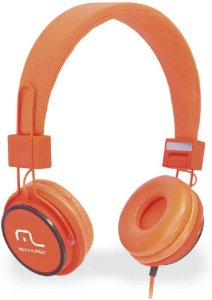 Fone de Ouvido Headphone Fun Laranja PH086 Multilaser