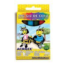 BIG GIZ DE CERA 6 CORES ACRILEX