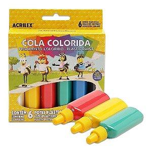 Cola Colorida 6X23G Acrilex