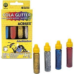 Cola Glitter 4X15G Acrilex