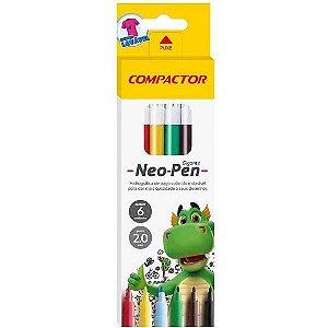 LAPIS HIDROCOR NEO-PEN-GIGANTE C/6 COMPACTOR