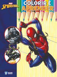 Livro Colorir E Aprender Spider-Man