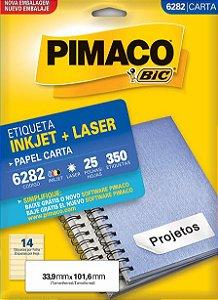 Etiqueta Carta 6282 Branca 14 Etq Pimaco