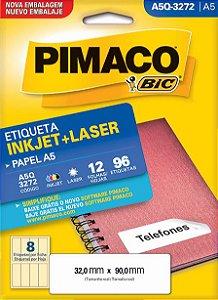 Etiqueta A5Q3272E Branca 8 Etq Pimaco
