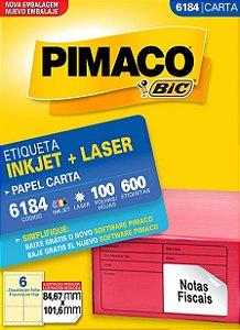 Etiqueta Carta 6184 Branca 6 Etq Pimaco