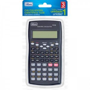 Calculadora Científica Preta Tc08 Tilibra