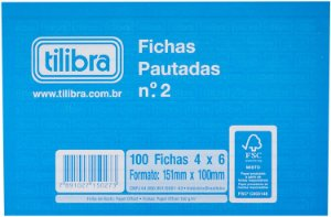 Ficha Pautada N2 4x6 100F Tilibra