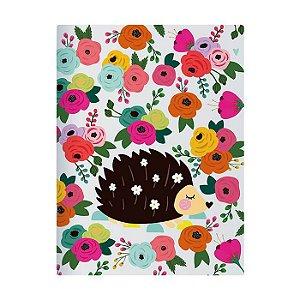 Caderno Pontado 13X18 Cm Floral