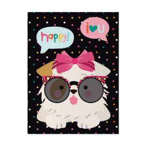 Caderno Pontado 13X18 Cm Happy Cachorro