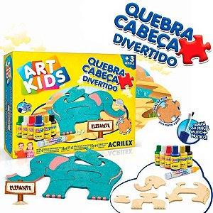QUEBRA CABEÇA ELEFANTE ART KIDS