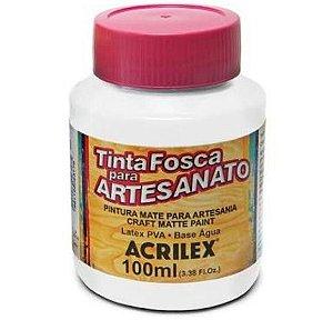 TINTA PVA FOSCA 100ML BRANCO (519) ACRILEX