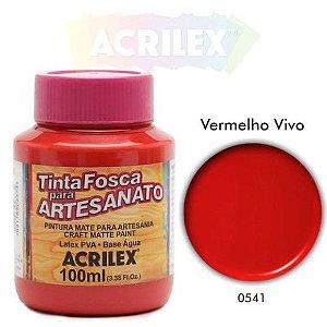 TINTA PVA FOSCA 100ML VERMELHO VIVO (541) ACRILEX