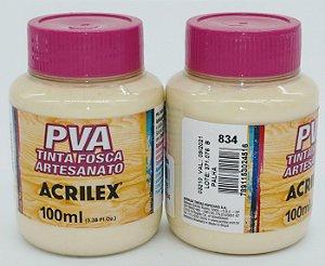 TINTA PVA FOSCA 100ML PALHA (834) ACRILEX