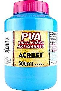 TINTA PVA FOSCA  500ML AZUL CELESTE (503) ACRILEX