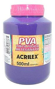 TINTA PVA FOSCA  500ML VIOLETA (516) ACRILEX