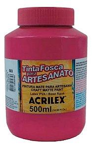 TINTA PVA FOSCA  500ML ROSA ESCURO (542) ACRILEX