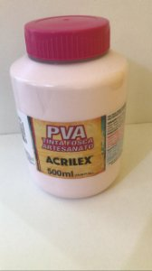 TINTA PVA FOSCA  500ML ROSA BEBE (813) ACRILEX