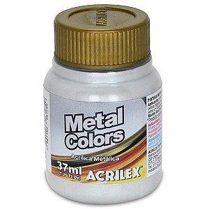 TINTA METAL COLORS 37ML PRATA (533) ACRILEX