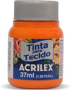 TINTA TECIDO FOSCA 37ML LARANJA (517) ACRILEX