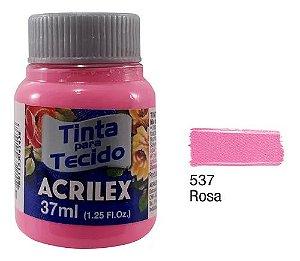 TINTA TECIDO FOSCA 37ML ROSA (537) ACRILEX