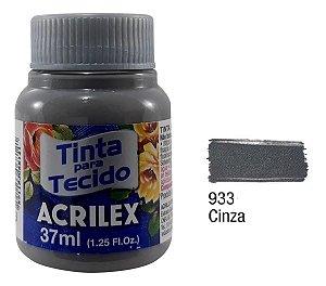 TINTA TECIDO FOSCA 37ML CINZA (933) ACRILEX
