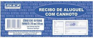 Talão Recibo Aluguel C/Canhoto 50F São Domingos