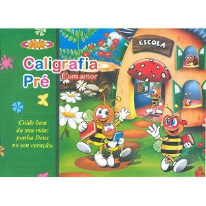 Caderno Caligrafia É Um Amor Pré Bahia Art