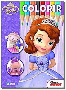 Livro Colorir Disney - Princesinha Sofia Rideel