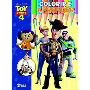 Livro Disney Colorir E Aprender - Toy Story 4