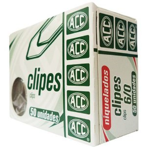 CLIPES NIQUELADOS 6/0 C/50 ACC